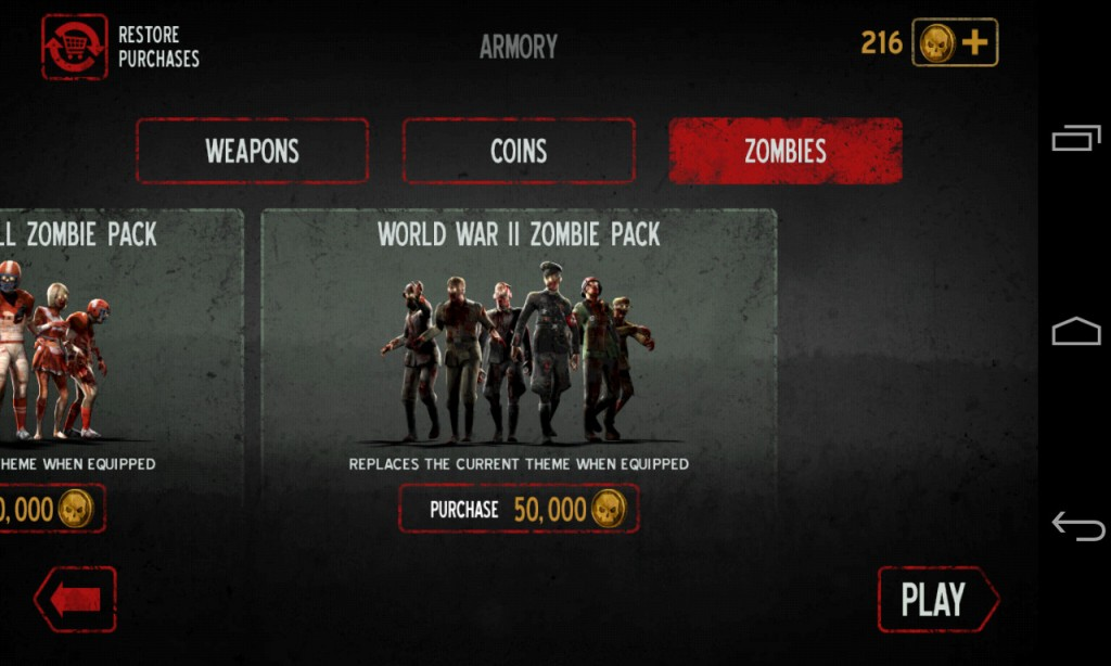 Into-the-Dead-Unlock-new-packs-of-zombies